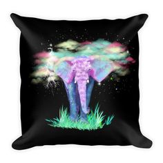 Colrful Elephant Pillow