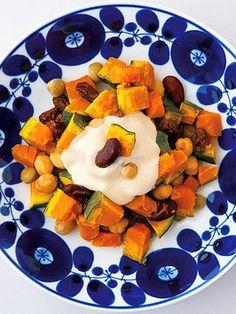 【ELLE a table】かぼちゃと豆の温サラダレシピ エル・オンライン