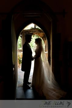 church wedding silhouette