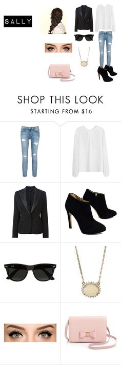 """""""Future Sally"""" by evelyn-mendoza-1 on Polyvore featuring Current/Elliott, Lanvin, Giuseppe Zanotti, Ray-Ban, Disney and Ted Baker"""