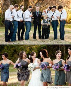 Nyk + Cali, Wedding Photographers | Brentwood, TN | Creative wedding party ideas | Groomsmen | Bridesmaids | Fun wedding poses