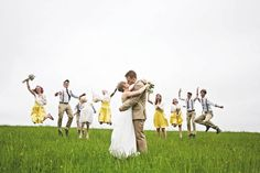 I want all of my wedding photos to be fun like this.