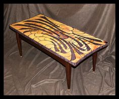 mosaic furniture | Saramar Studios Stained Glass Mosaic Tables For Sale