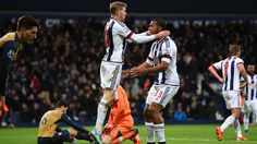 Darren Fletcher and Salomón Rondón. Arteta own goal sinks Gunners. Olivier Giroud gave the visitors the lead but the Baggies quickly hit back and survived a late scare when Santi Cazorla sent a late penalty over the crossbar Own Goal, West Bromwich, The Visitors, Sinks, Sumo, Survival, Wrestling, Goals