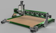 This is a more robust version of an earlier design with my goal being a simple, easy to build machine. The X, Y, Z and Gantry clearance dim. Cnc Router Plans, Diy Cnc Router, Router Woodworking, Router Projects, Woodworking Projects, Hobby Cnc, Cnc Milling Machine, 3d Cad Models, Auction Projects