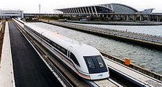 The Shanghai Transrapid  is a maglev train with a top commercial speed of 431 km/hr, making it the fastest train in the world. These trains have reached test speeds of 501 km/hr. The train and tracks were built by Siemens.