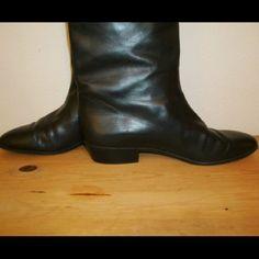 Anne Klein Black Leather Vintage Boots!