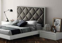 Cabezal tapizado de la colección Aiko. #bedroom, #dormitorio, #upholstery