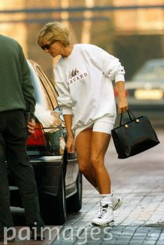 January 27, 1997: Diana, Princess of Wales leaving the Harbour Club, London.