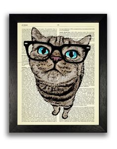 COOL CAT SET  This is a set of prints - you will receive the three prints shown…