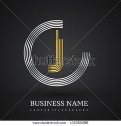 Letter JC or CJ linked logo design circle C shape. Elegant silver and gold colored letter symbol. Vector logo design template elements for company identity. - stock vector