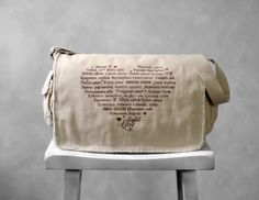 Messenger Bag  LOVE Languages  Coffee on Stone by BucktoothedBunny, $40.00