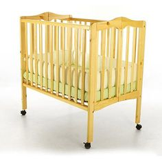 Dream On Me 2 In 1 Lightweight Portable Folding Crib, Choose Your Finish