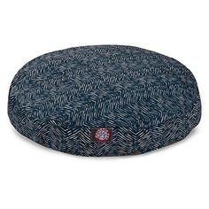 Navy Blue Navajo Large Round Indoor Outdoor Pet Dog Bed With Removable Washable Cover By Majestic Pet Products *** Continue to the product at the image link.