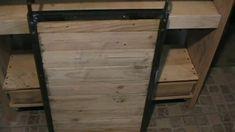 DIY : Console bois et métal avec porte coulissante ….. Kastepat