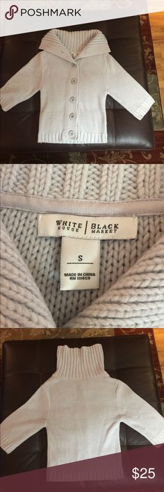 White House Black Market -light blue sweater White House Black Market -light blue sweater. GUC -super soft- please let me know any questions, measurements or added pics that would be helpful! White House Black Market Sweaters