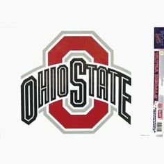 Ohio State XL Logo by WinCraft. $10.94. Chrome. 11x17. Removable Vinyl Sticker. In Stock. Officially licensed Ohio State University ultra decal cling will stick to many surfaces and is removable and reusable.  The Ohio State University logo comes on a transparent background.  Can be used outdoors or indoors.  Proudly made in the USA.  Size is approximate.  College, student, sports, Buckeyes, NCAA, National Collegiate Athletic Association.
