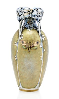 An 'Amphora' pierced porcelain vase ~ Made by Riessner StellMacher and Kessel ~ 1895