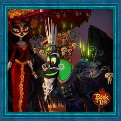 The Book of Life - La Muerte and Xibalba are a tricky team. Watch out for them in The #BookOfLife, now in theaters!