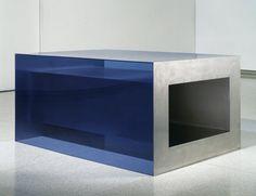 Donald Judd, Untitled, 1968, stainless steel, plexiglass, Walker Art Center.
