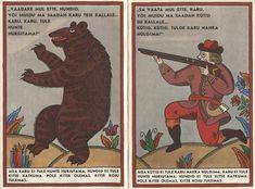 Illustrations by Jaan Tammsaar for Kits Sarapikus, a Belarusian tale (Estonia, 1984)