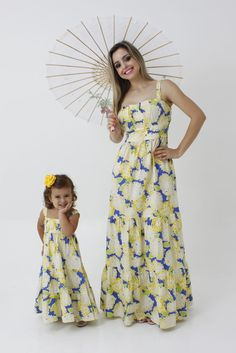 """Don't Mommy and I look nice in our long dresses?"""
