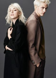Daisy Clementine & Lucky Blue for Simons Lucky Blue Smith, Couple Photography Poses, Portrait Photography, Fashion Photography, Couple Posing, Couple Shoot, Couple Portraits, Pyper America Smith, Stylish Couple