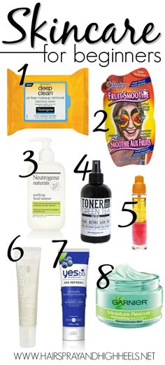 SKINCARE FOR BEGINNERS! A list of products that will make the perfect skincare for beginners kit. Affordable products readily available at most drugstore and retail locations.