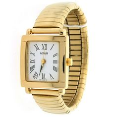 Lorus Ladies Stretch Band Gold Tone Watch with Roman Easy to Read Dial Lorus. $19.95. Water Resistant. Stretch Band. Quartz Japan Movement. Lorus Ladies Watch. Easy To Read Dial