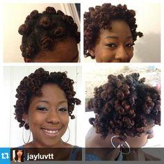 Check out @Jervinia Thomas's Bantu knot out. Gorgeous! #naturalhair #teamnatural #afrohair #bantuknotout