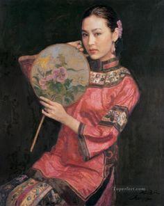 Chen Yifei - Beauty with Fan