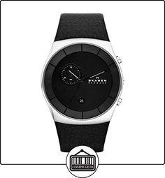 Skagen SKW6070 - Reloj de pulsera hombre, piel, color negro de  ✿ Relojes para hombre - (Gama media/alta) ✿