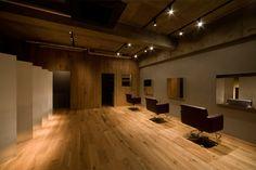 Ce salon de beauté minimaliste intérêt juin conception de l'architecte Japonais Hiroyuki Miyake .