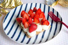 Tarte aux fraises et