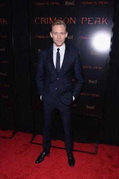 Tom Hiddleston attends the Crimson Peak premiere at AMC Loews Lincoln Square on Oct 14, 2015 in NYC. Via ZIMBIO