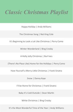 Classic Christmas Playlist / via Alexandria Wade