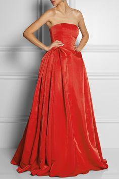 Alexander McQueen|Duchess silk-satin gown|NET-A-PORTER.COM