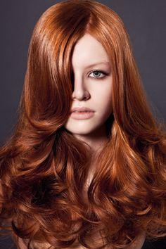 В моде 2016 рыжие оттенки волос, как на фото
