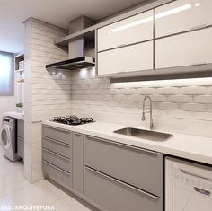 Apartamento R|C ✔️ • Cozinha - cena 02 | Funcional, prática, moderna e atemporal! By @studio83arquitetura . #picoftheday #instamood…
