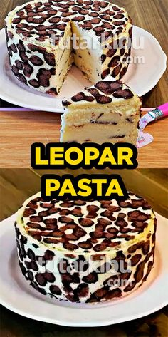 Leopar Desenli Pasta Tarifi - See Tutorial and Ideas Poke Cake Recipes, Dessert Recipes, Desserts, Jasmine Cake, Patterned Cake, Confectionery, Ice Cream, Yummy Food, Healthy Recipes