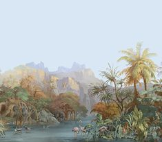 Où trouver les plus beaux panoramiques? Zuber Papier peint panoramique Les Zones Terrestres dessiné par Ehrmann et Zipélius en 1855