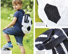 Crochet kid's backpack pattern free