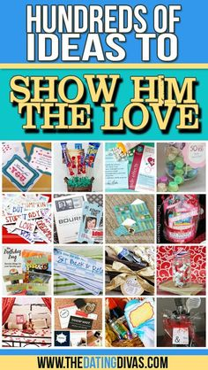 An archive with HUNDREDS of ideas for showing your husband or boyfriend some love.  PERFECT for Valentines!