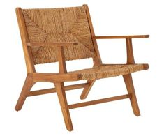 This lovely armchair is perfect for relaxing outside as it's made from beautiful teak and woven rattan. The teak is smooth and given a natural finish which shows the warmth and grain of the wood. Outdoor Armchair, Outdoor Chairs, Outdoor Furniture, Outdoor Decor, Lounge Chairs, Teak Wood, Rustic Wood, Made To Measure Furniture, Contemporary Armchair