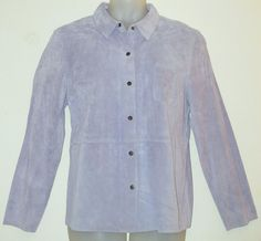 FIELD GEAR Suede Shirt sz XL NEW/NWT Lilac Purple Jacket Casual Washable Leather…