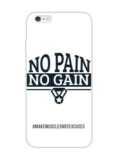 No Pain No Gain - Typography - Designer Mobile Phone Case Cover for Apple iPhone 6