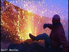 "Amazing!!  (The close call is about 3/4 of the way through....)  ""Geoff Mackley has close call on Mt Etna"" - YouTube"