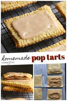 These Homemade Frosted Brown Sugar Pop Tarts are OUT OF CONTROL DELICIOUS! They're flaky on the outside, perfectly sweet on the inside, and topped with a cinnamon icing. You will never want a boxed Pop Tart again! #poptarts #pastry #breakfast #cookiesandcups #homemadepoptarts #homemade #cinnamonsugar