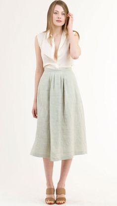 Samuji Pale Green Tony Skirt