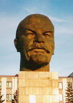 Head of Lenin Statue in Ulan-Ude, Russia (Siberia).